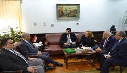 Alexandria University receives the governor of rotary district